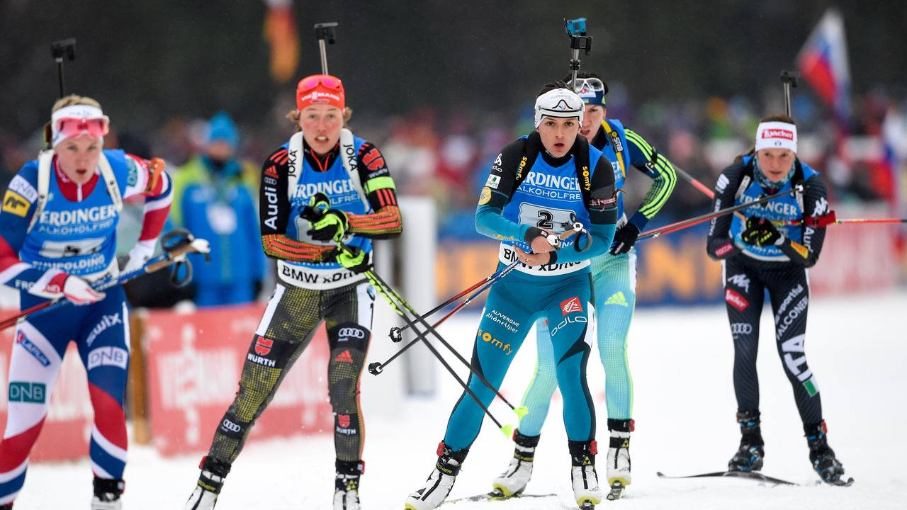 Poursuite 12,5 km messieurs - programme TV Biathlon