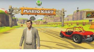 Replay de GTA V rencontre Mario Kart