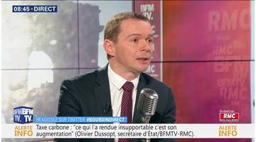 Olivier Dussopt face à Jean-Jacques Bourdin en direct
