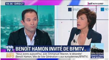 Benoît Hamon face à Ruth Elkrief