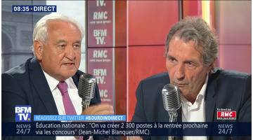 Jean-Pierre Raffarin face à Jean-Jacques Bourdin en direct