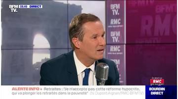 Nicolas Dupont-Aignan face à Jean-Jacques Bourdin en direct - 08/11