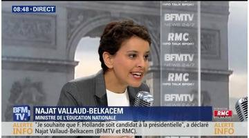 Najat Vallaud-Belkacem face à Jean-Jacques Bourdin en direct