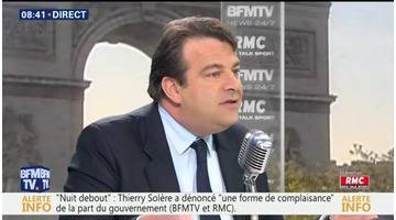 Thierry Solère face à Jean-Jacques Bourdin en direct