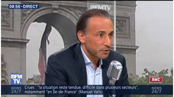 Tariq Ramadan face à Jean-Jacques Bourdin en direct