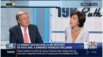 Antonio Guterres face à Ruth Elkrief