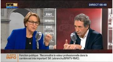 Marylise Lebranchu face à Jean-Jacques Bourdin en direct