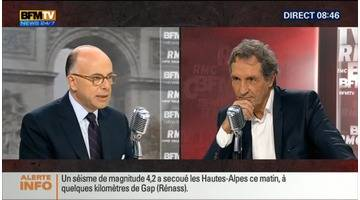 Bernard Cazeneuve face à Jean-Jacques Bourdin en direct