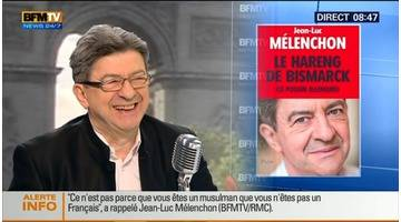 Jean-Luc Mélenchon face à Jean-Jacques Bourdin en direct