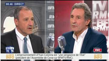 Jean-Guy Talamoni face à Jean-Jacques Bourdin en direct