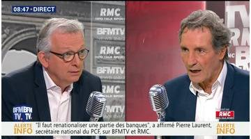 Pierre Laurent face à Jean-Jacques Bourdin en direct