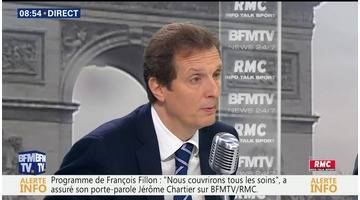 Jérôme Chartier face à Jean-Jacques Bourdin en direct