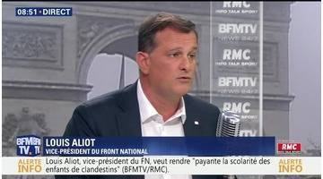 Louis Aliot face à Jean-Jacques Bourdin en direct