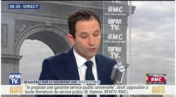 Benoît Hamon face à Jean-Jacques Bourdin en direct