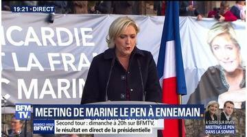 Le meeting de Marine Le Pen à Ennemain
