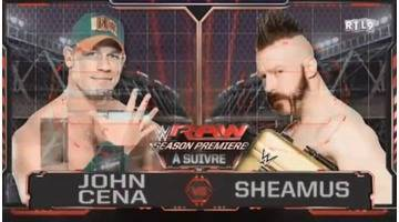 Replay de RTL9 RAW JOHN CENA VS SHEAMUS