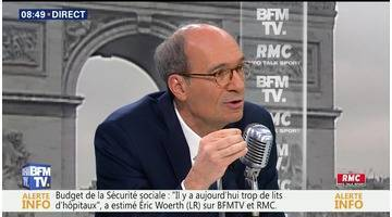 Éric Woerth face à Jean-Jacques Bourdin en direct