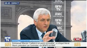Hervé Morin face à Jean-Jacques Bourdin en direct
