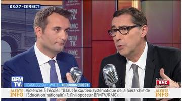 Florian Philippot face à Laurent Neumann en direct