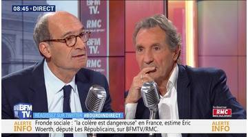 Eric Woerth face à Jean-Jacques Bourdin en direct
