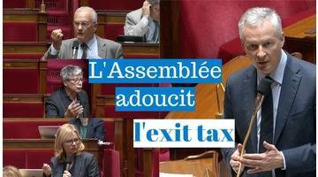 L'Assemblée nationale adoucit l'exit tax